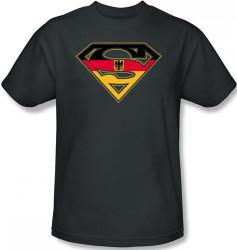 Image Closeup for Superman T-Shirt - German Flag Shield