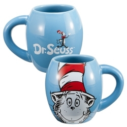 Image for Dr. Suess Cat in the Hat 18 oz Oval Coffee Mug