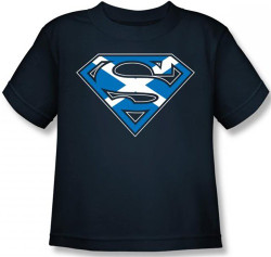 Image for Superman Kids T-Shirt - Scottish Flag Shield