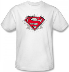 Image Closeup for Superman T-Shirt - Hastily Drawn Shield Logo