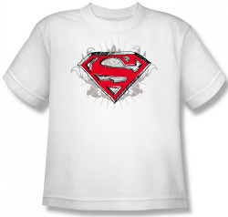 Image for Superman Youth T-Shirt - Hastily Drawn Shield Logo