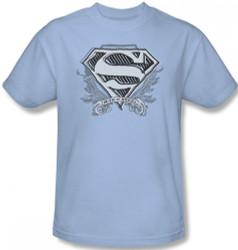 Image Closeup for Superman T-Shirt - Sketchy Crest Shield Logo