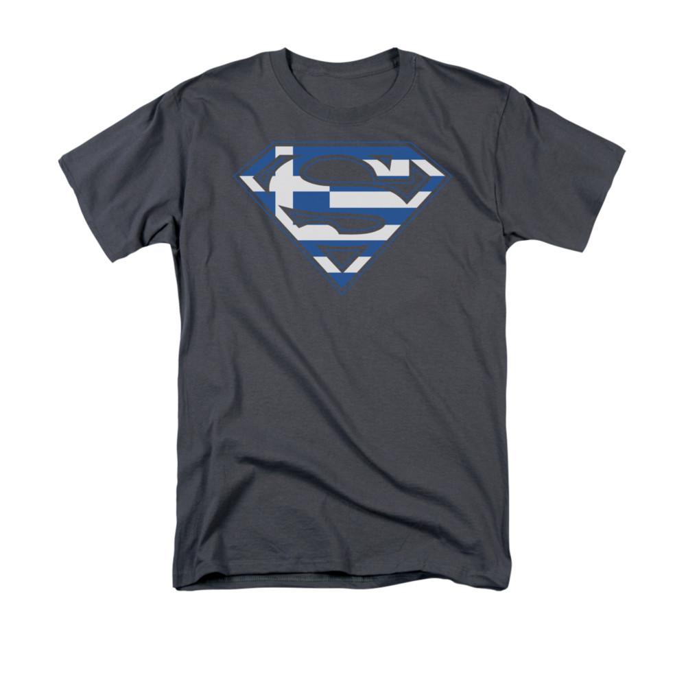 5313331c7f3 Superman T-Shirt - Greek Flag Shield. Loading zoom