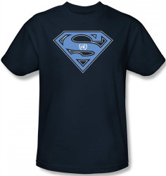 Image Closeup for Superman T-Shirt - U.N. Shield Shield Logo