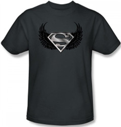 Image Closeup for Superman T-Shirt - Dirty Wings