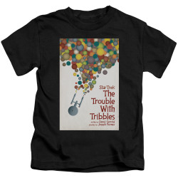 Image for Star Trek Juan Ortiz Episode Poster Kids T-Shirt - Ep. 44 the Trouble With Tribbles on Black