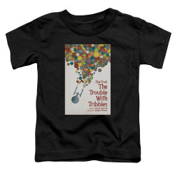 Image for Star Trek Juan Ortiz Episode Poster Toddler T-Shirt - Ep. 44 the Trouble With Tribbles on Black