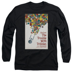 Image for Star Trek Juan Ortiz Episode Poster Long Sleeve Shirt - Ep. 44 the Trouble With Tribbles on Black