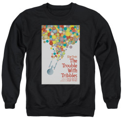 Image for Star Trek Juan Ortiz Episode Poster Crewneck - Ep. 44 the Trouble With Tribbles on Black