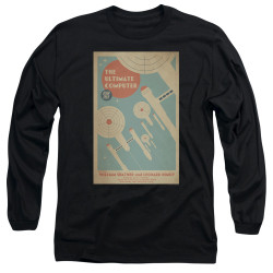 Image for Star Trek Juan Ortiz Episode Poster Long Sleeve Shirt - Ep. 53 the Ultimate Computer on Black