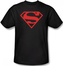 Superman T-Shirt - Red on Black Shield Logo