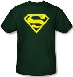 Image for Superman T-Shirt - Yellow & Green Shield Logo