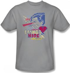 Image Closeup for Superman T-Shirt - You Can Run