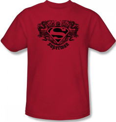 Image Closeup for Superman T-Shirt - Dragon Logo