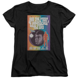 Image for Star Trek Juan Ortiz Episode Poster Womans T-Shirt - Ep. 63 For the World is Hollow and I have Touched the Sky on Black