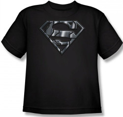Image for Superman Kids T-Shirt - Mech Shield Logo