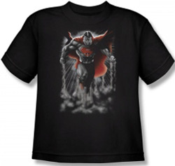 Image for Superman Youth T-Shirt - Above the Clouds