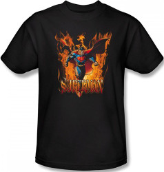 Image Closeup for Superman T-Shirt - Through the Fire