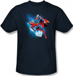 Image Closeup for Superman T-Shirt - Crystalize