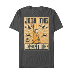 Image for Star Wars Episode 8 the Last Jedi Join the Resistance Raised Fist T-Shirt