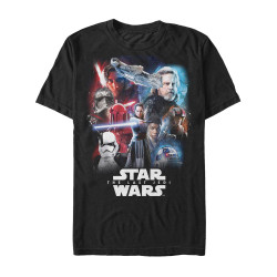 Image for Star Wars Episode 8 the Last Jedi Force Users Heather T-Shirt