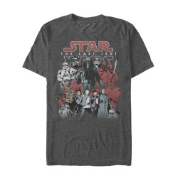 Image for Star Wars Episode 8 the Last Jedi Good and Evil Heather T-Shirt
