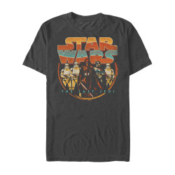 Image for Star Wars Episode 8 the Last Jedi Retro Style Premium T-Shirt