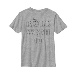Image for Star Wars Episode 8 the Last Jedi Youth T-Shirt -Roll With It