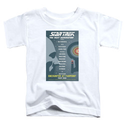 Image for Star Trek the Next Generation Juan Ortiz Episode Poster Toddler T-Shirt - Season 1 Ep. 2 - Encounter at Farpoint Part One