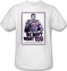 Image Closeup for Superman T-Shirt - Bizarro Me Don't Want You