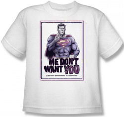 Image for Superman Youth T-Shirt - Bizarro Me Don't Want You