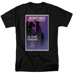 Image for Star Trek the Next Generation Juan Ortiz Episode Poster T-Shirt - Season 1 Ep. 5 the Last Outpost on Black