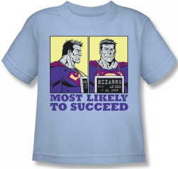 Image for Superman Kids T-Shirt - Bizarro Most Likely to Succeed