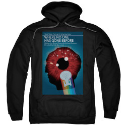 Image for Star Trek the Next Generation Juan Ortiz Episode Poster Hoodie - Season 1 Ep. 6 Where No One Has Gone Before on Black