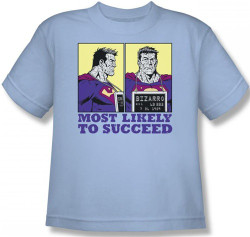 Image for Superman Youth T-Shirt - Bizarro Most Likely to Succeed