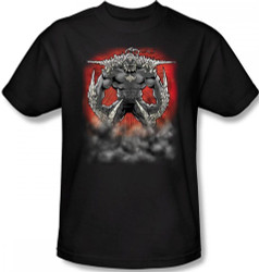 Image Closeup for Superman T-Shirt - Doomsday Dust Logo