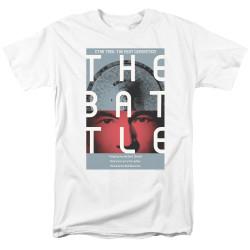 Image for Star Trek the Next Generation Juan Ortiz Episode Poster T-Shirt - Season 1 Ep. 9 the Battle