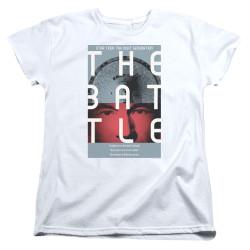 Image for Star Trek the Next Generation Juan Ortiz Episode Poster Womans T-Shirt - Season 1 Ep. 9 the Battle