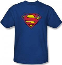 Image Closeup for Superman T-Shirt - Destroyed Supes Logo