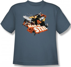 Image for Superman Youth T-Shirt - Steel