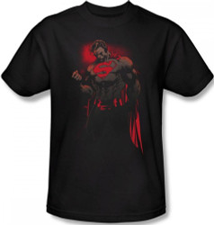 Image Closeup for Superman T-Shirt - Red Son