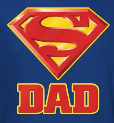 superman tshirt super dad logo nerdkungfu