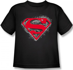 Image for Superman Kids T-Shirt - Hardcore Noir Shield Logo