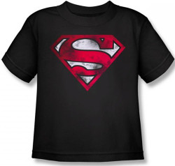 Image for Superman Kids T-Shirt - War Torn Shield Logo
