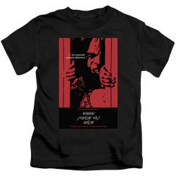 Image for Star Trek the Next Generation Juan Ortiz Episode Poster Kids T-Shirt - Season 2 Ep. 2 Where Silence Has Lease on Black