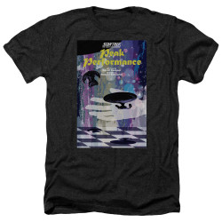 Image for Star Trek the Next Generation Juan Ortiz Episode Poster Heather T-Shirt - Season 2 Ep. 21 Peak Performance on Black