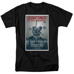 Image for Star Trek the Next Generation Juan Ortiz Episode Poster T-Shirt - Season 3 Ep. 1 Evolution on Black