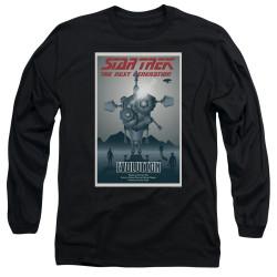 Image for Star Trek the Next Generation Juan Ortiz Episode Poster Long Sleeve Shirt - Season 3 Ep. 1 Evolution on Black