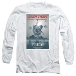 Image for Star Trek the Next Generation Juan Ortiz Episode Poster Long Sleeve Shirt - Season 3 Ep. 1 Evolution