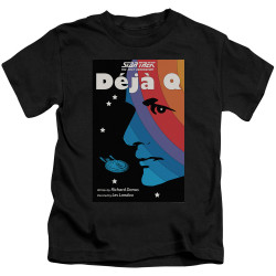 Image for Star Trek the Next Generation Juan Ortiz Episode Poster Kids T-Shirt - Season 3 Ep. 13 Deja Q on Black
